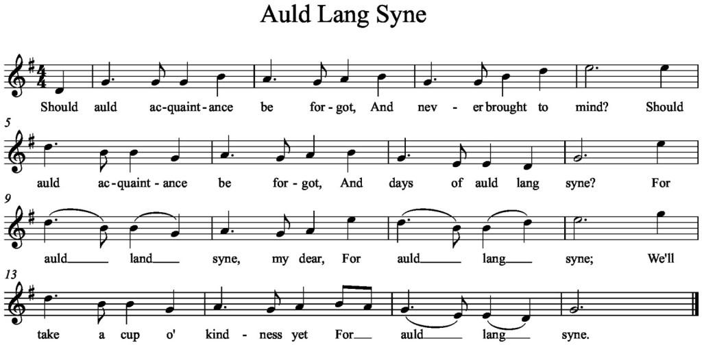 Auld+Lang+Syne g-major 1#